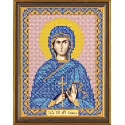 Евгения Св.Преп.Мч., ткань с рисунком для вышивания бисером 13х17см