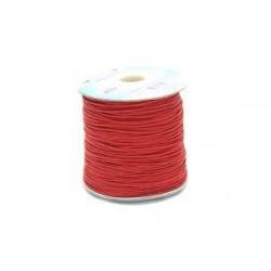 Красный шнур вощеный 1мм, 1м Gamma
