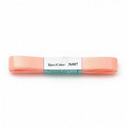 Персиковый, атласная лента 100% полиэстер ширина 12мм, длина 5.4м. Gamma