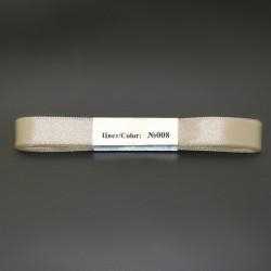 Кремовый, атласная лента 100% полиэстер ширина 12мм, длина 5.4м. Gamma