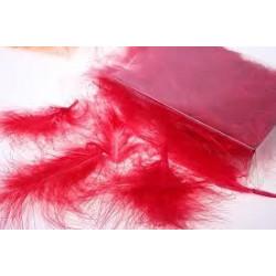 Красный(ассорти), декоративные перья 12-15см 24шт.±2 шт, Mr. Painter