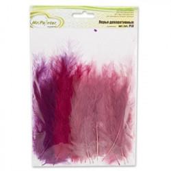 Винный(ассорти), декоративные перья 12-15см 24шт.±2 шт, Mr. Painter