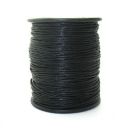 Черный, шнур вощеный 1мм, 1м Gamma