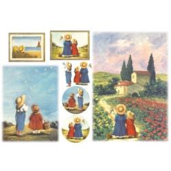Бумага рисовая для декупажа Дети Stamperia, 1 лист 48х33 см 28г/м