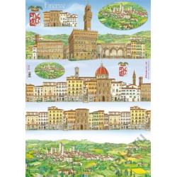 "Карта для декупажа Stamperia ""Флоренция"", 1 лист, 50х70 см"
