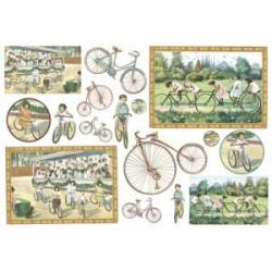 Бумага рисовая для декупажа Stamperia Велосипед, 1 лист, 48х33 см 28г/м
