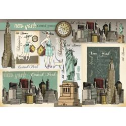 Бумага рисовая для декупажа Stamperia Нью Йорк, 1 лист, 48х33 см 28г/м