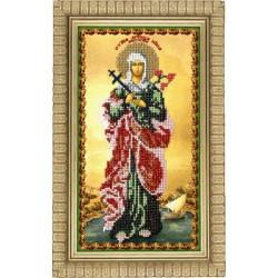 Виктория Святая, набор для вышивания бисером 15х25см, Вышиваем бисером