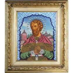 Артемий Святой, набор для вышивания бисером 19х25см, Вышиваем бисером