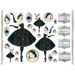 Бумага рисовая для декупажа Балерина, 1 лист, 48х33 см 28г/м