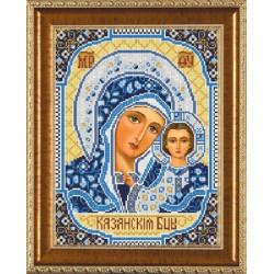 Богородица Казанская, ткань с рисунком для вышивания бисером формат А3