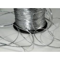 Серебро, шнур люрекс 2мм 1м