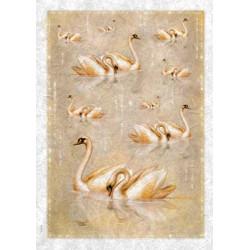Лебеди, бумага рисовая для декупажа, 32х45 см. Love2Art