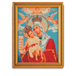 Милующая (Достойно есть) Богородица  набор для вышивания бисером 20х26см Радуга Бисера