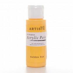 Краска акриловая, ARTISTE, солнечно-желтый