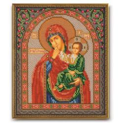 Отрада и Утешение Богородица, набор для вышивания бисером 20х24см Радуга Бисера