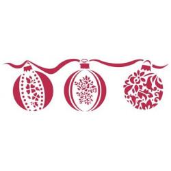 Рождественские шары, трафарет пластиковый 38х15 см Stamperia