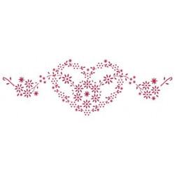 Сердце из цветов, трафарет пластиковый 38х15 см Stamperia