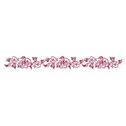 Цветочный мотив лента, трафарет пластиковый 60х7 см Stamperia