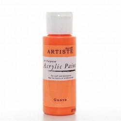 Краска акриловая ARTISTE, оранжево-розовый