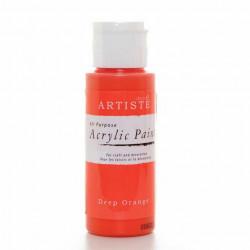 Краска акриловая ARTISTE, ярко-оранжевый