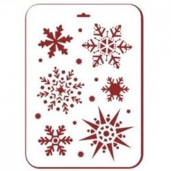 Снежинки 3Трафарет декоративный 31х22см