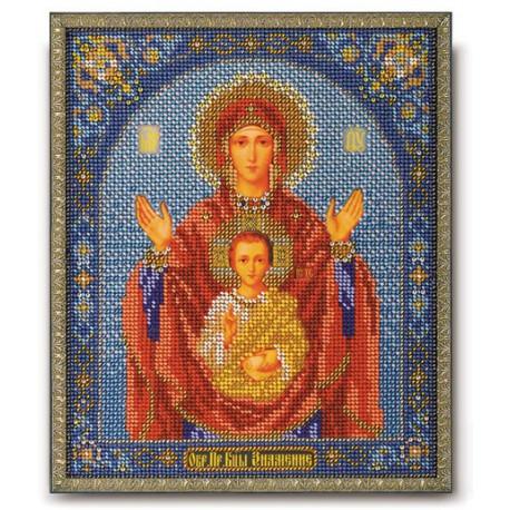Знамение Богородица, набор для вышивания бисером 20х24см Радуга Бисера