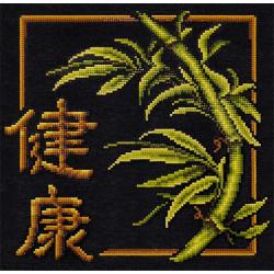 Иероглиф Здоровье, кристальная мозаика 28.5x28 см, частичное заполнение Фрея