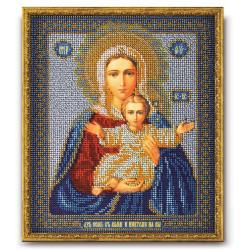 Леушинская Богородица, набор для вышивания бисером 21х25см Радуга Бисера