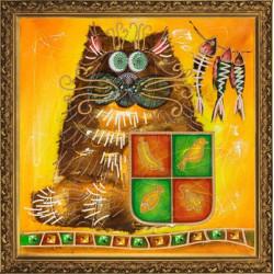 Фон Кот де Ман, набор для вышивания бисером, 30х30см, 7цветов НоваСлобода