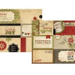 Бумага для скрапбукинга 30*30 см двусторонняя 25 DAYS OF CHRISTMAS ELEMENT 1 Simple Stories