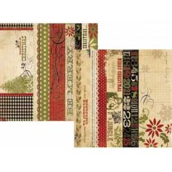 Бумага для скрапбукинга 30*30 см двусторонняя 25 DAYS OF CHRISTMAS TITLE STRIP Simple Stories