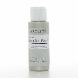 Краска акриловая перламутровая ARTISTE, белый.