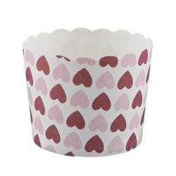 Сердца, бумажные формы для выпечки d 6см 6шт. Pane-Cake