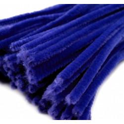 Синий, синель-проволока (шенил) 6мм*30см 30шт