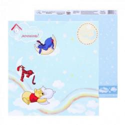 Время мечтать, бумага для скрапбукинга Счастье с пеленок 29.5х29.5см 160г/м2 двусторонняя АртУзор