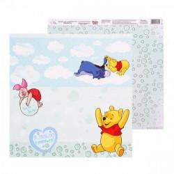 Вместе веселей, бумага для скрапбукинга Счастье с пеленок 29.5х29.5см 160г/м2 двусторонняя АртУзор