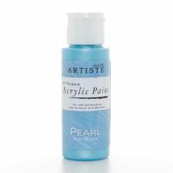 Краска акриловая перламутровая ARTISTE, голубой.