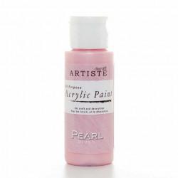 Краска акриловая перламутровая ARTISTE, розовый.