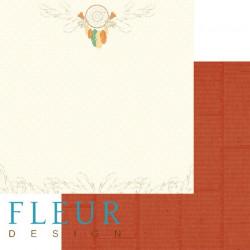 Ловец снов, коллекция Дыхание осени, бумага для скрапбукинга 30x30см, 190г/м Fleur Design