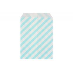 Райе голубые, бумажные пакеты для выпечки, 13х18см, 10 шт
