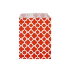 Арабески красные, бумажные пакеты для выпечки, 13х18см, 10 шт