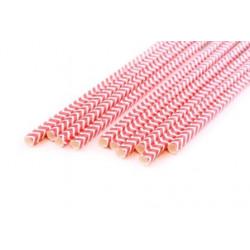 Шеврон красный, бумажные трубочки,19,5см, 10 шт