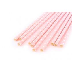 Горох розовый, бумажные трубочки,19,5см, 10 шт
