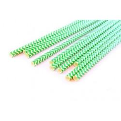 Шеврон ярко-зеленый, бумажные трубочки,19,5см, 10 шт