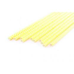 Шеврон желтый, бумажные трубочки,19,5см, 10 шт