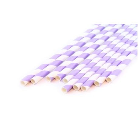 Завиток сиреневый, бумажные трубочки,19,5см, 10 шт