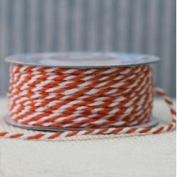 Оранжевый/белый, шнур бечевка 2мм, 3м, Gamma