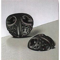 Носики животных клеевые, Цвет черный, 18 мм, 4 шт , Состав: пластик.