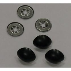 Носики с фиксатором, Цвет черный, 19 мм, 3 шт, Состав: пластик.